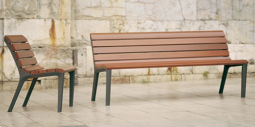 Amanta bench and chair