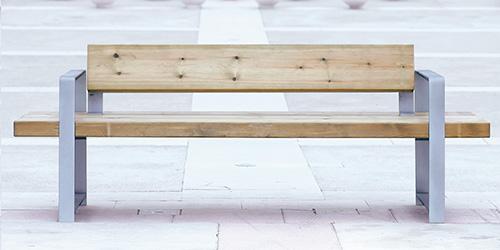 Banco Lineal de madera