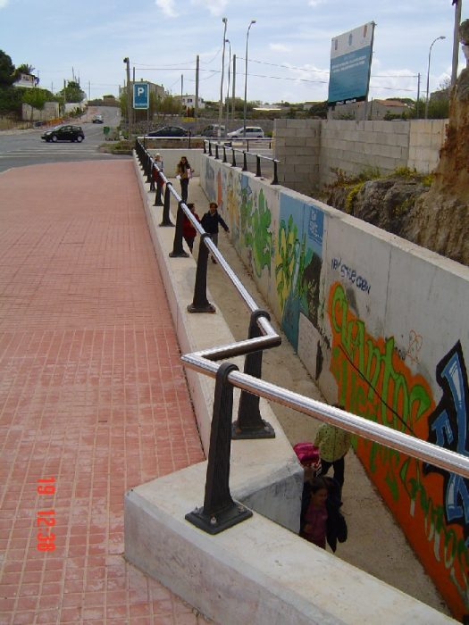Paseo subterráneo en Es Castell (Menorca)